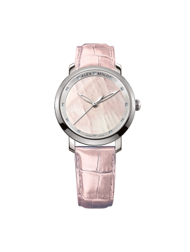 Rose Quartz Ladies 12 Diamonds