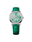 Green Marble Jade 32mm 12 diamants