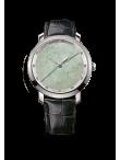 Ice Jade Luminescent 40mm Quartz 12 diamants
