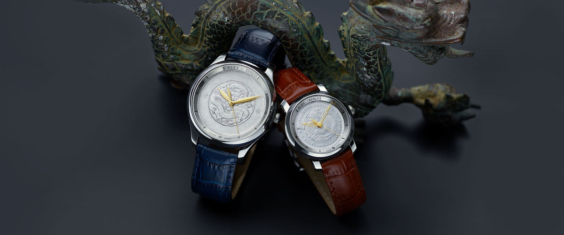 Alex Benlo - Natural Stone Watches - Silver Dragon Collection