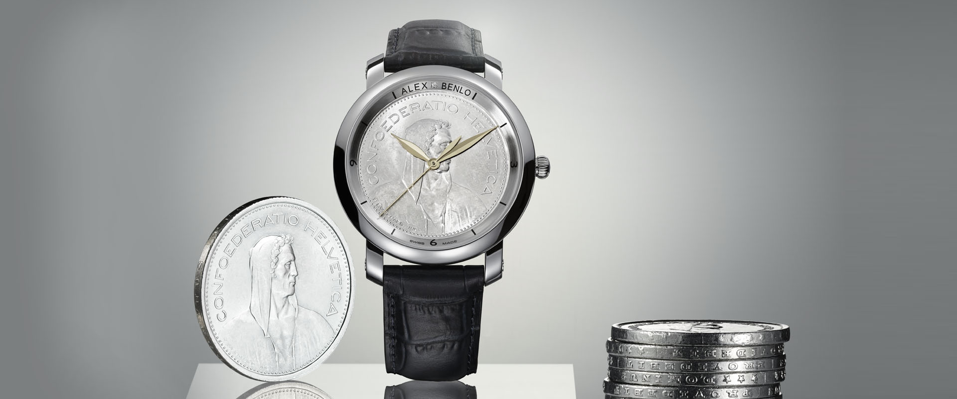 Alex Benlo - Natural Stone Watches - Swiss Coins Edition