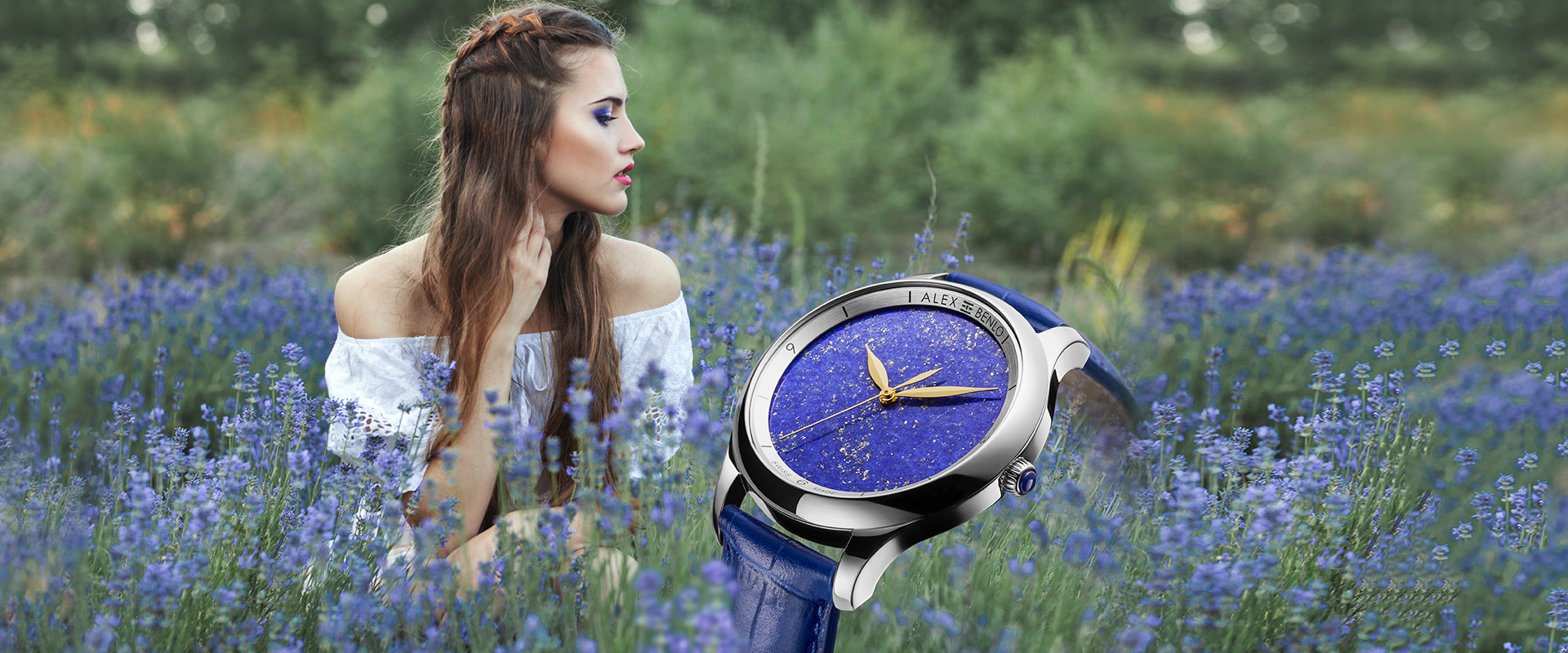 Alex Benlo - Natural Stone Watches - Lapis Lazuli