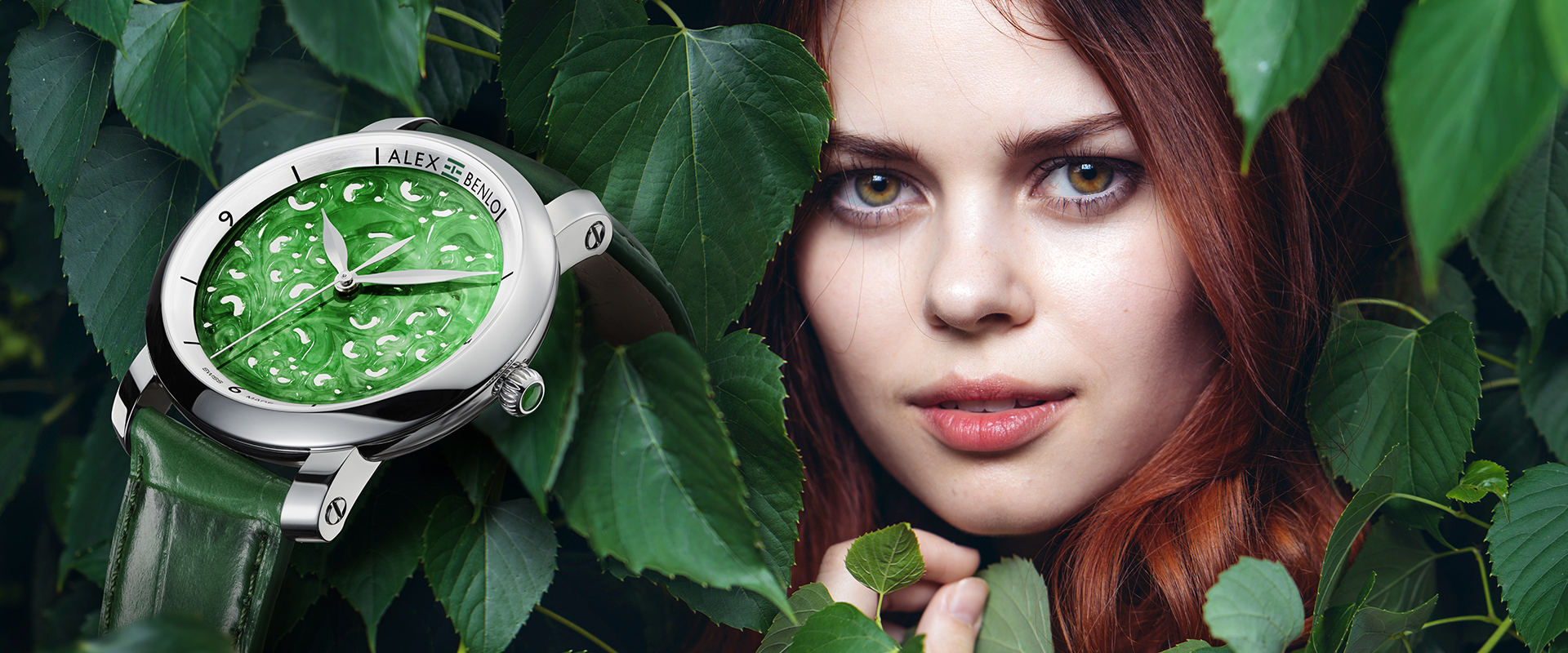 Alex Benlo - Natural Stone Watches - Jade Collection