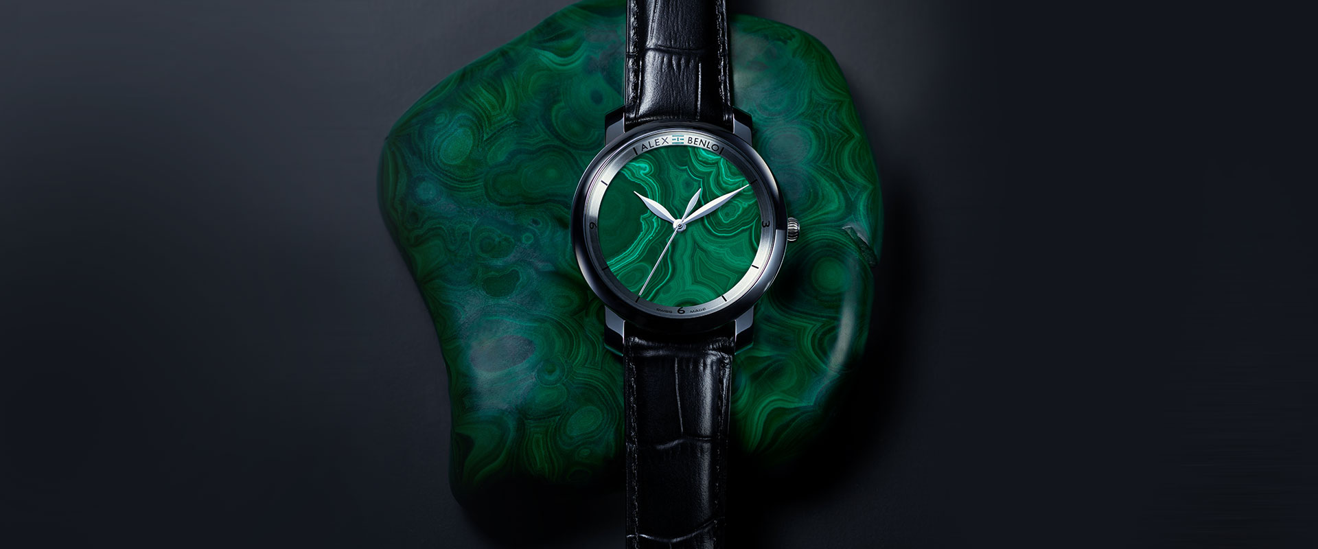 Alex Benlo - Natural Stone Watches - Malachite Collection